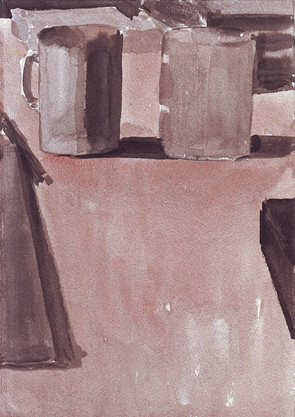 Black and sepia ink on paper \ 25 x 17.5 cm \ 2008 \ artwork for sale