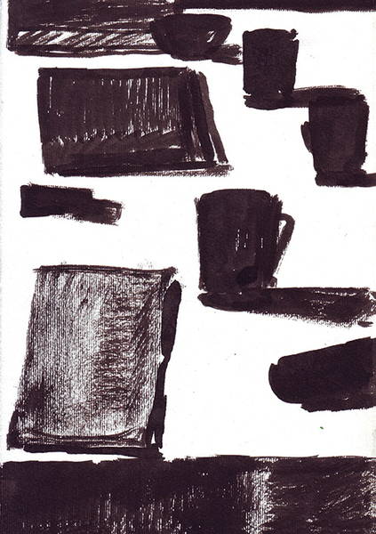Ink on paper \ 25 x 17.5 \ 2008 \ artwork for sale