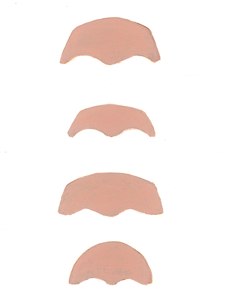 Types of foreheads